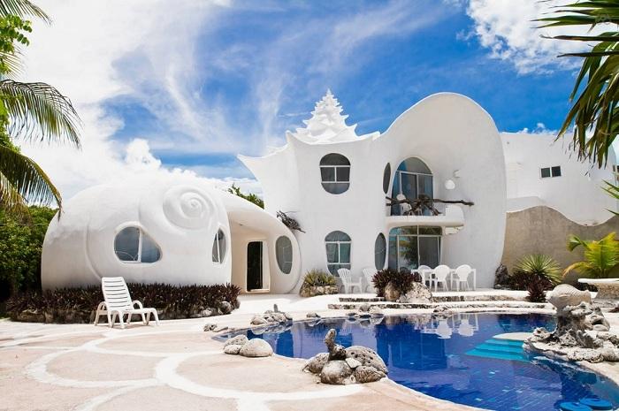 «Casa Caracol» - отель в виде ракушки.
