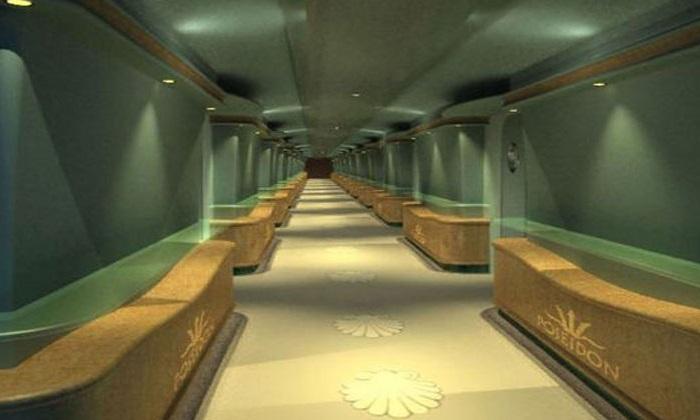 Интерьер отеля Poseidon Undersea Resort.