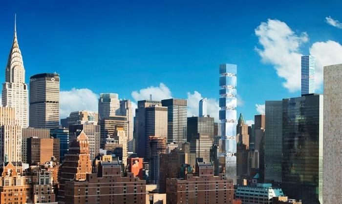 Жилая башня в Нью-Йорке. Проект.