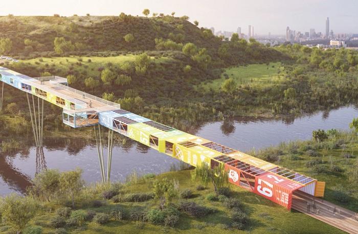 «ECOntainer bridge» - будущий мост из контейнеров.