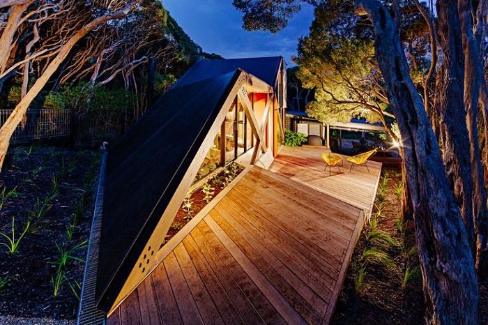 Cabin 2 - дом с угловым фасадом.
