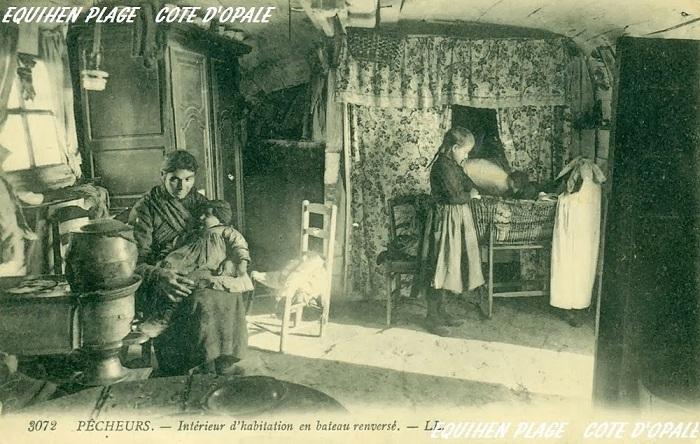 Интерьер дома, где жила семья рыбака.