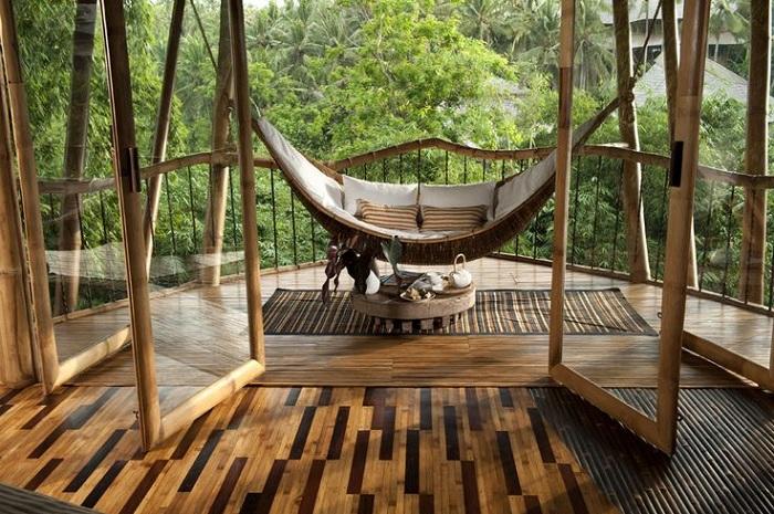 Бамбуковая вилла на Бали.