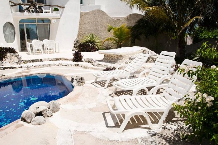 «Casa Caracol». Внутренний двор.