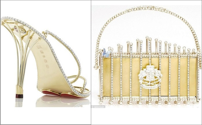 Самые дорогие в мире туфли и сумочка.