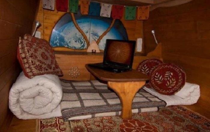 Место для отдыха в фургоне.