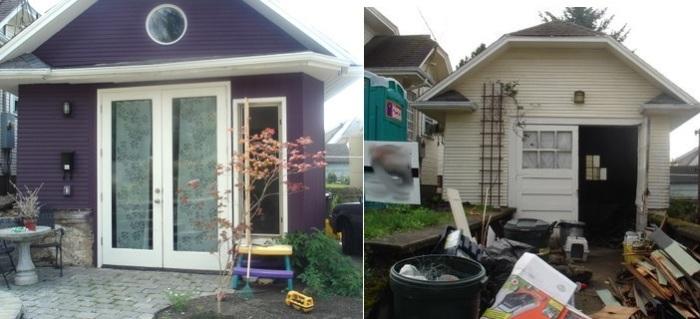 Мартин Браун превратил старый гараж в уютный домик.