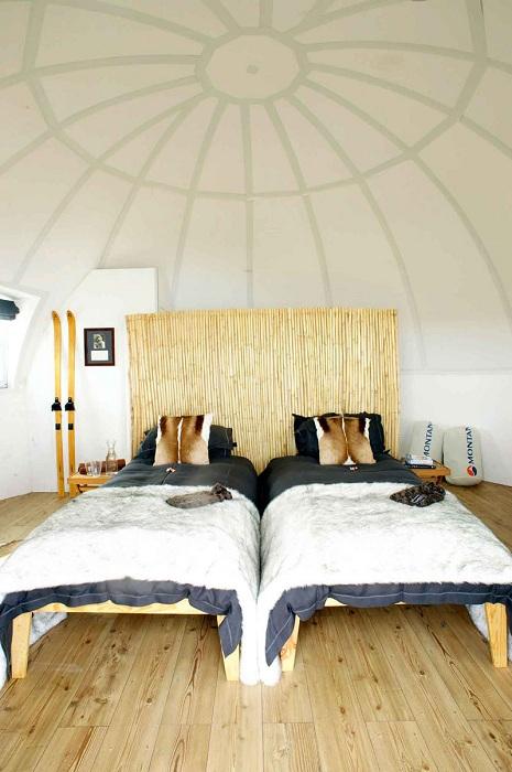 Купольный дом в Антарктиде. Спальня.