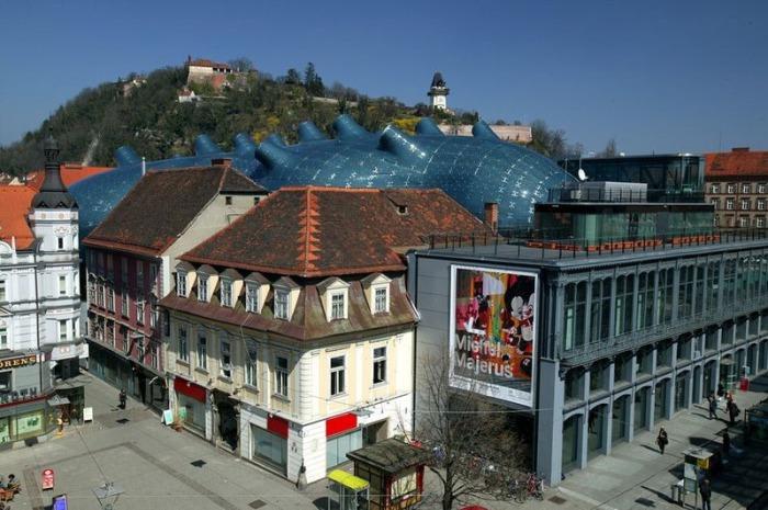 Музей, выполненный в стиле blob.