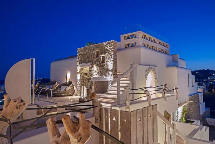 Kensho Boutique Hotel & Suites - белоснежный отель на греческом острове Миконос.