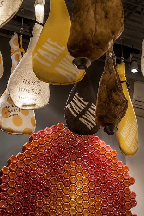Ham on Wheels. Оригинальный дизайн интерьера.