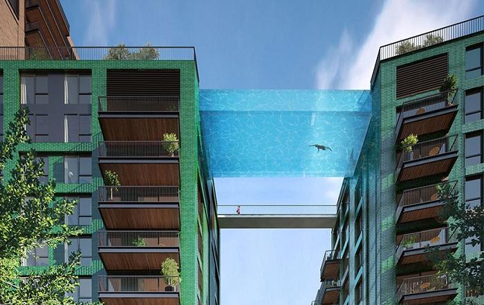 Sky Pool - бассейн, который будет построен между домами.