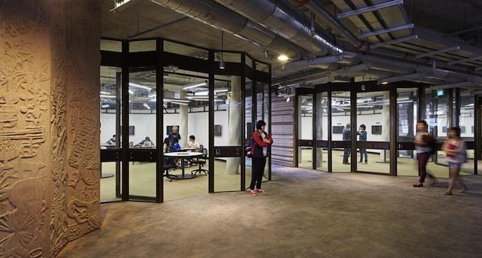 В «Learning Hub» все аудитории построены без острых углов.