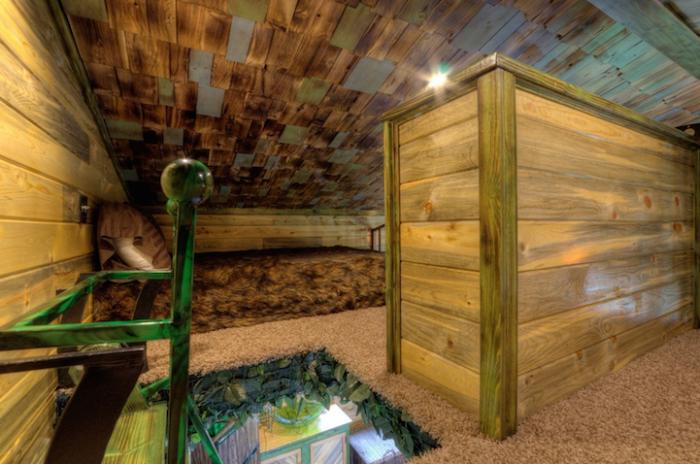 Hobbit treehouse. Мини-спальня.