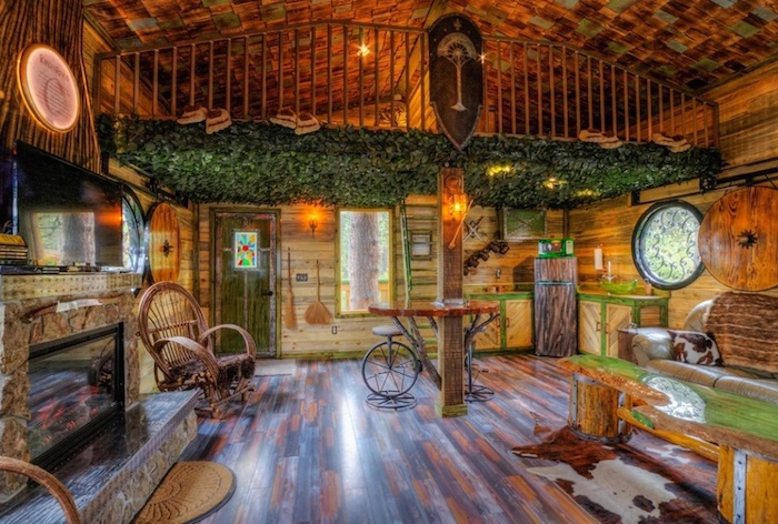 Hobbit treehouse. Интерьер.