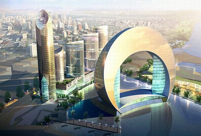 Hotel Crescent - роскошный отель, который строится сейчас в Азербайджане.