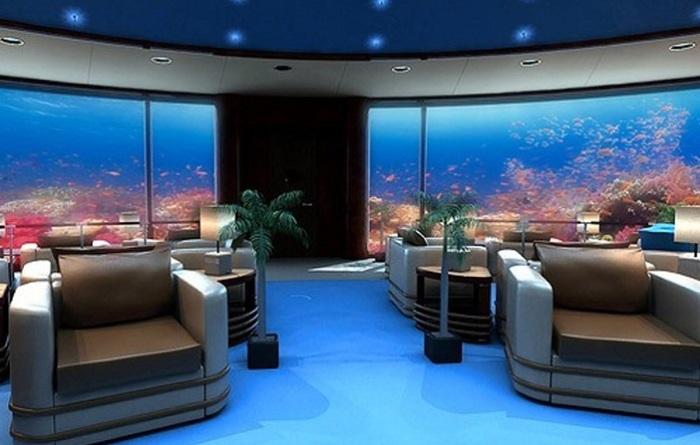 Место для релакса в отеле Poseidon Undersea Resort.