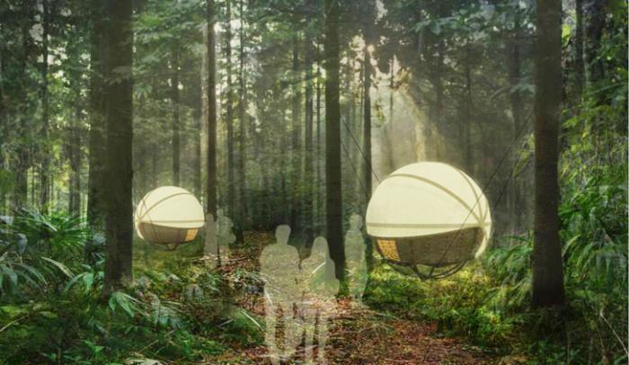 Проект подвесного жилья для походов от британской компании Cole Company.