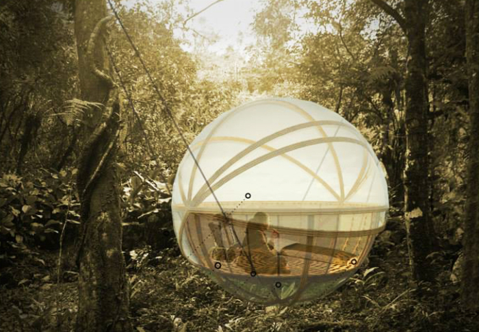 Spherical eco-lodge. Концепт.