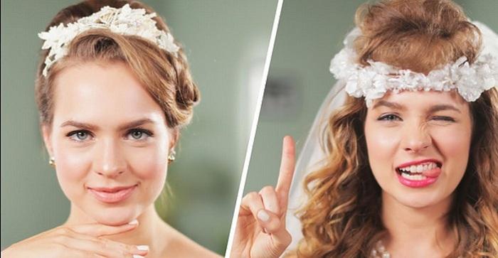 Как изменились свадебные прически за прошедшие полвека.