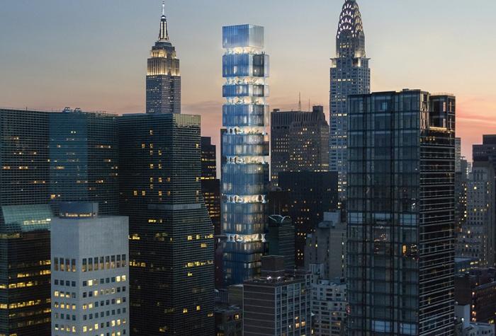 Жилой небоскреб в Нью-Йорке. Концепт.