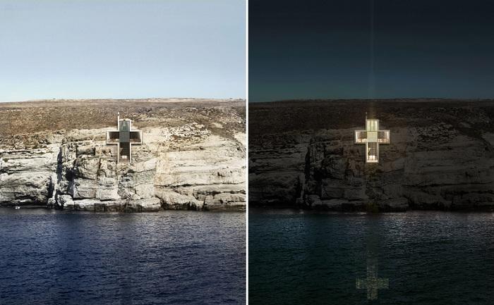 Часовня Святого Креста сможет также выступать в качестве маяка.