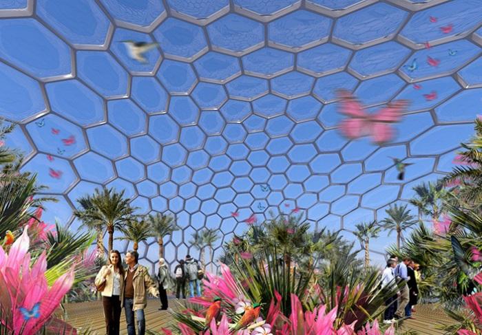 Vertical Zoo - крытое пространство для бабочек.