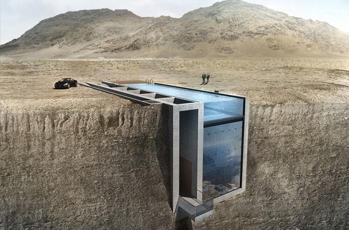 «Casa Brutale» - концепт дома в скале.
