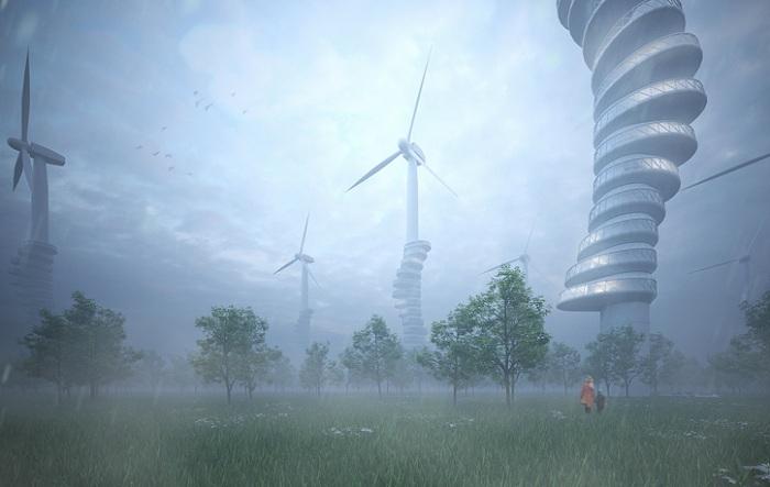 Ветряки как основа для жилищ.