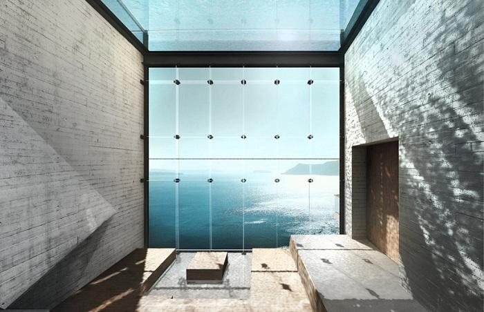 «Casa Brutale». Вид на Эгейское море.