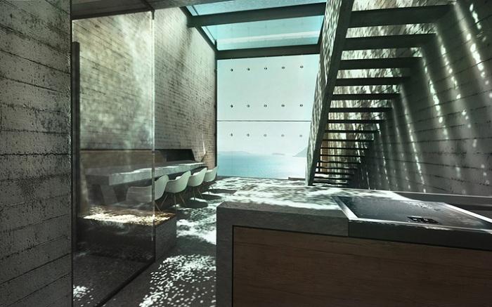 «Casa Brutale». Интерьер в минималистском стиле.