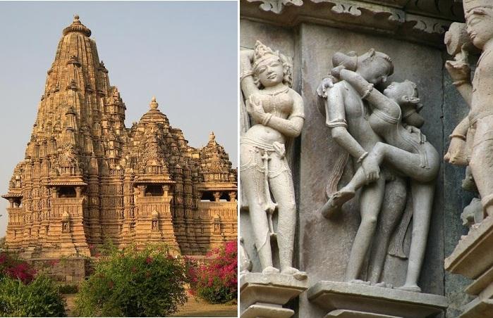 Эротические храмы Каджурахо (Индия).