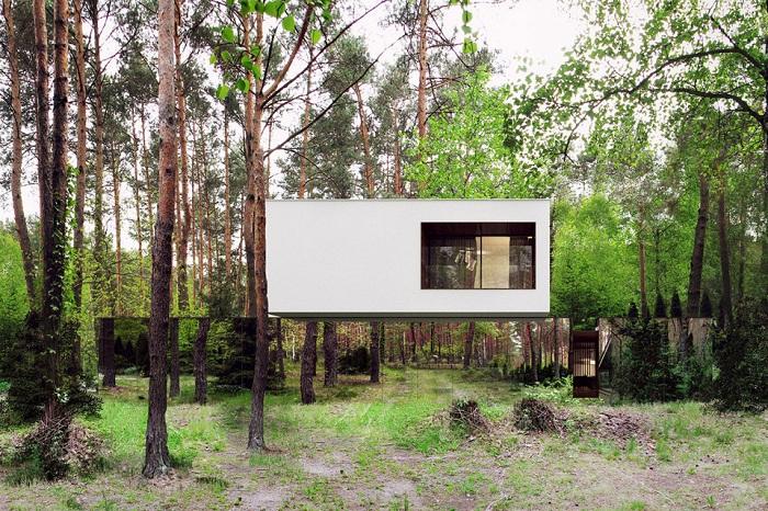Izabelin House - дом, «растворившийся» в лесу.