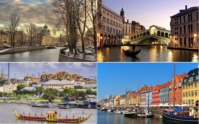 Города с живописными каналами.