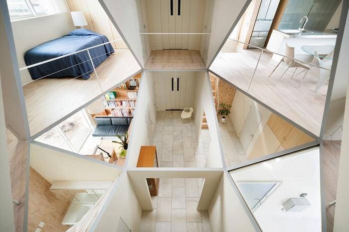 Kame House - дом с шестиугольным интерьером.
