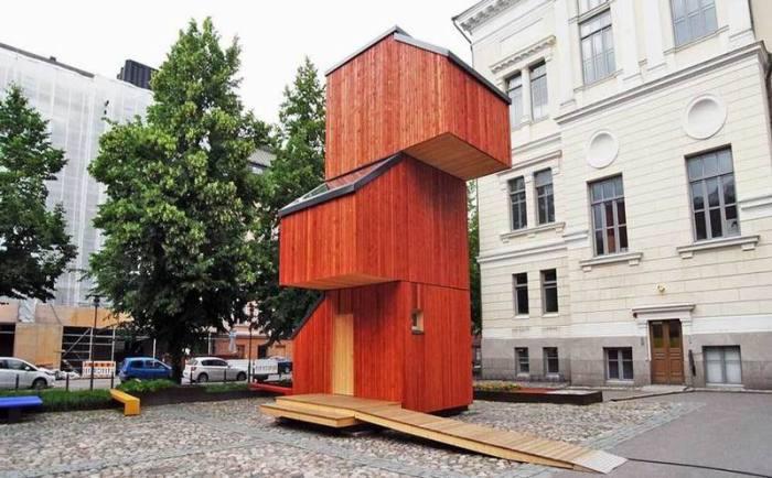 Kokoon - прототип временного жилья для студентов или бездомных.