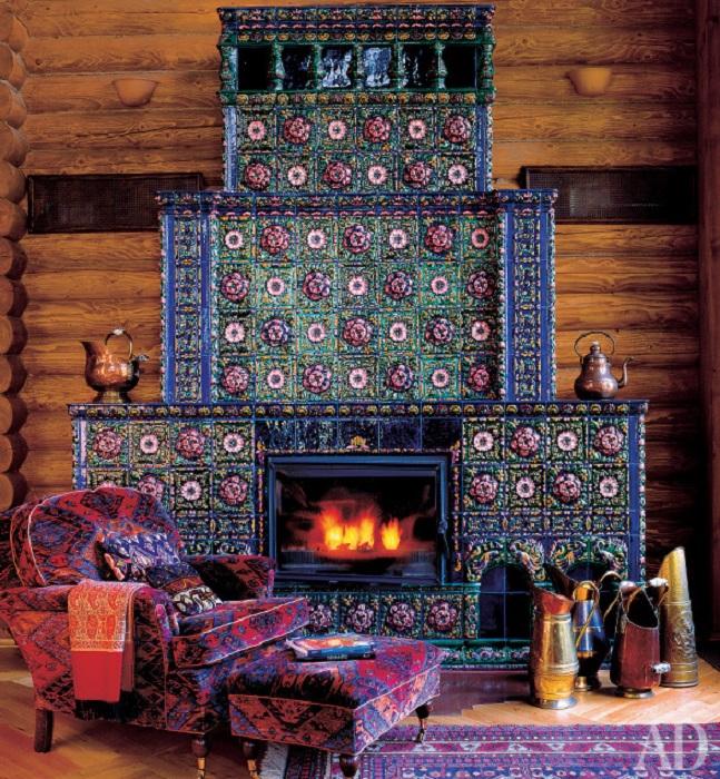 Камин в русском стиле. | Фото: admagazine.ru.