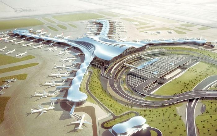 Концепт аэропорта в столице ОАЭ Абу-Даби.