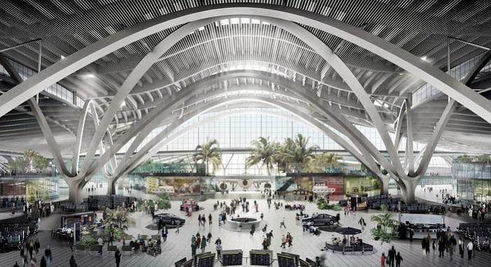 Главный терминал аэропорта в Абу-Даби.