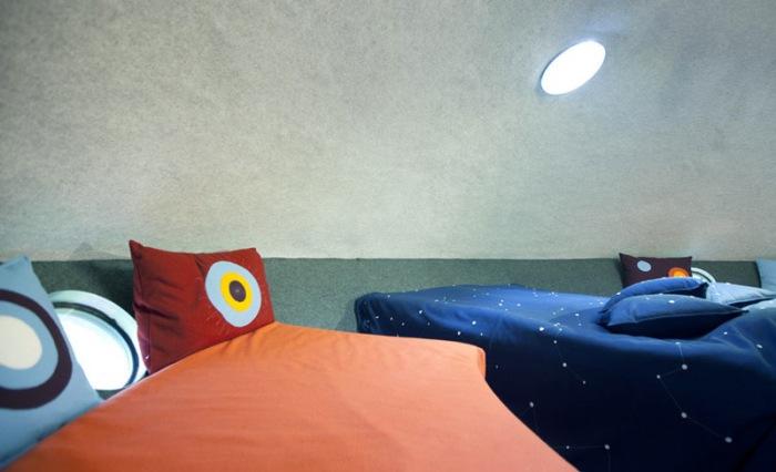 The UFO. Уютный интерьер.