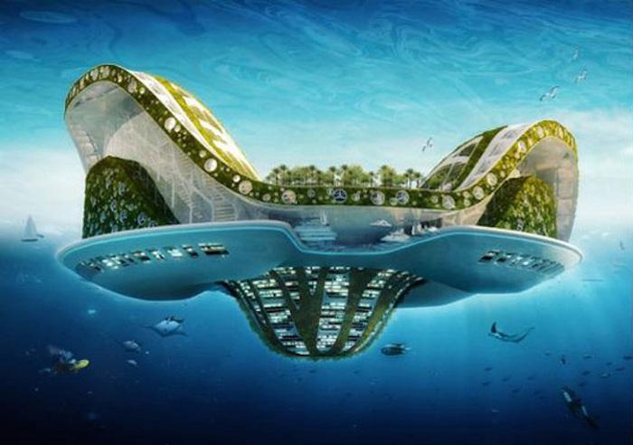 Концепт плавучего города Lilypad.