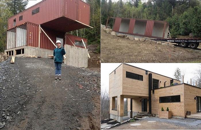 Девушка сама построила дом мечты.