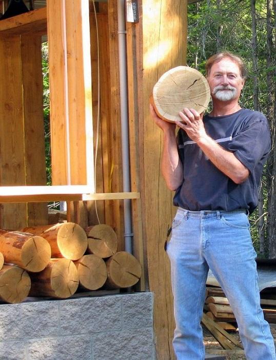 Пол из деревянных колец своими руками.