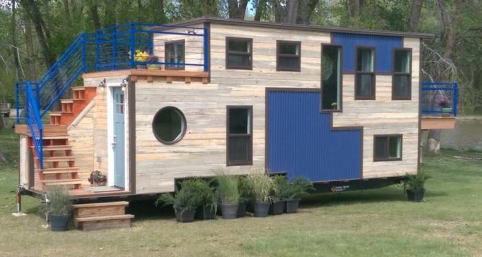 Дом на колесах площадью 22 кв. метров.