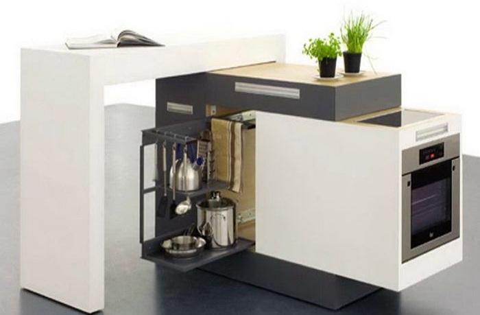 Компактное место для приготовления еды.