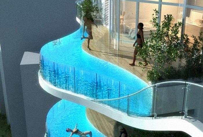 По балконам отеля Aquaria Grande можно будет не ходить, а плавать.