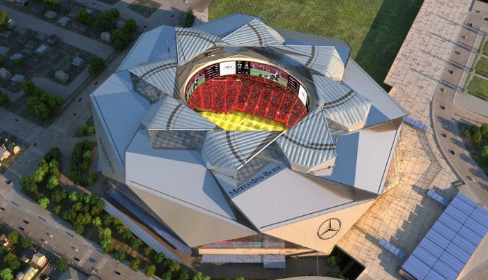 Mercedes-Benz Stadium - стадион-трансформер.