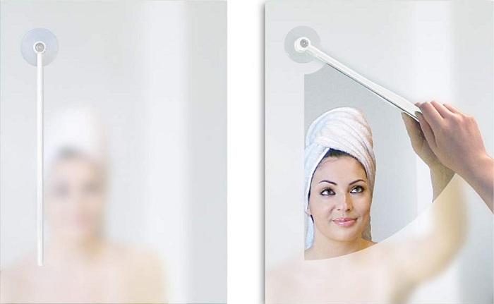Прибор, позволяющий избавиться от разводов на зеркале.