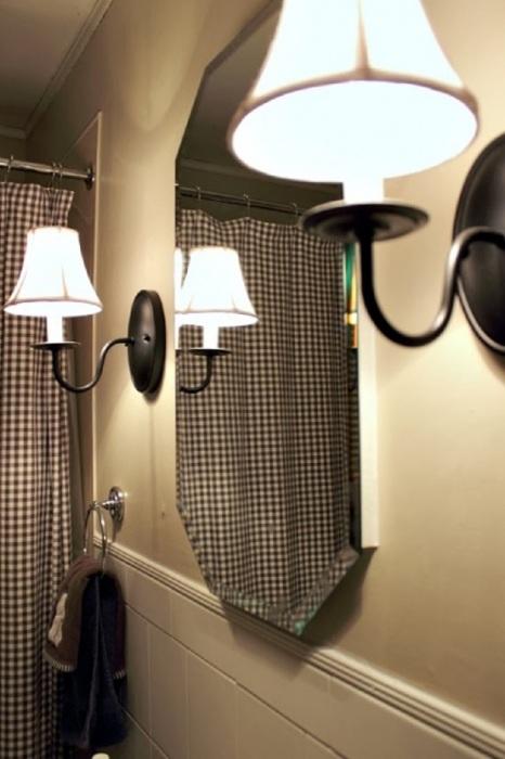 Вуаля - зеркало блестит как новое, и при этом не потеет. | Фото: creeklinehouse.com.