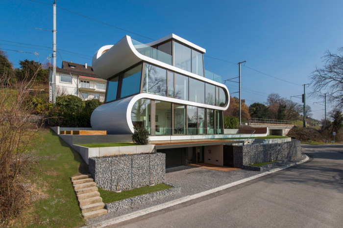 Flexhouse - дом с «ленточным» фасадом.